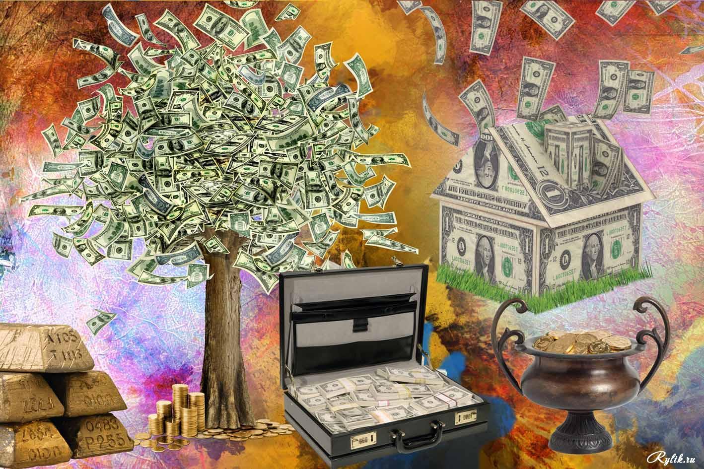 Картинка богатства для карты желаний